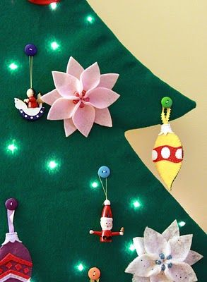 Toddler safe 2-D Felt Christmas Tree by Tranquility Spot. I need to do this for Preston so he will leave our tree alone! Think I will do it this week.