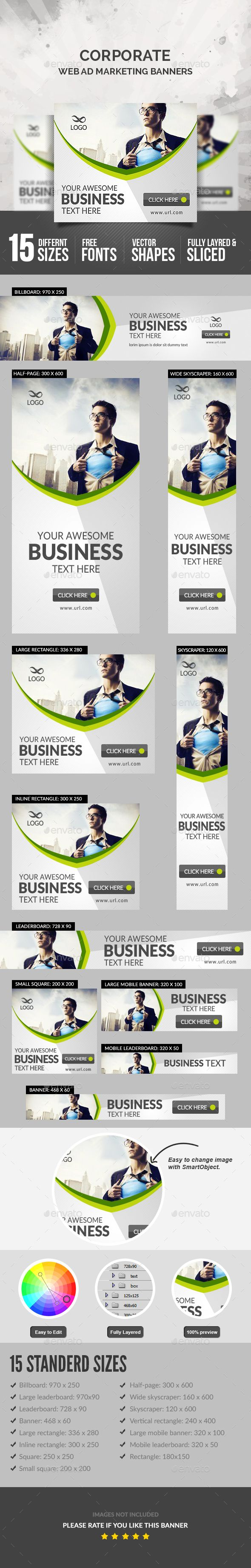 Corporate Banner Template PSD. Download here: https://graphicriver.net/item/corporate-banner/17558332?ref=ksioks