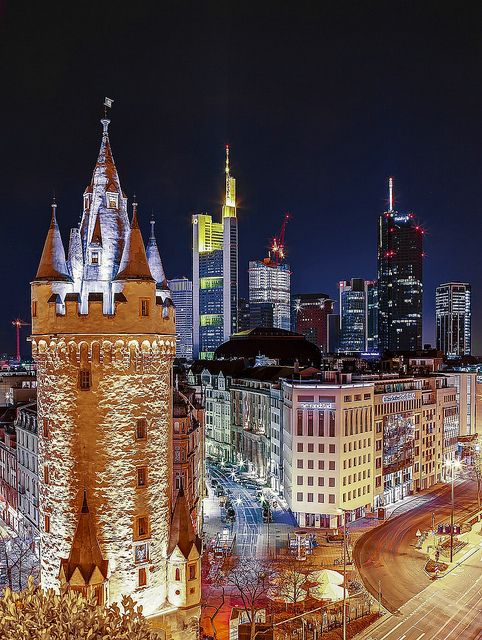 Downtown Frankfurt, Germany.  Go to www.YourTravelVideos.com or just click on photo for home videos and much more on sites like this.