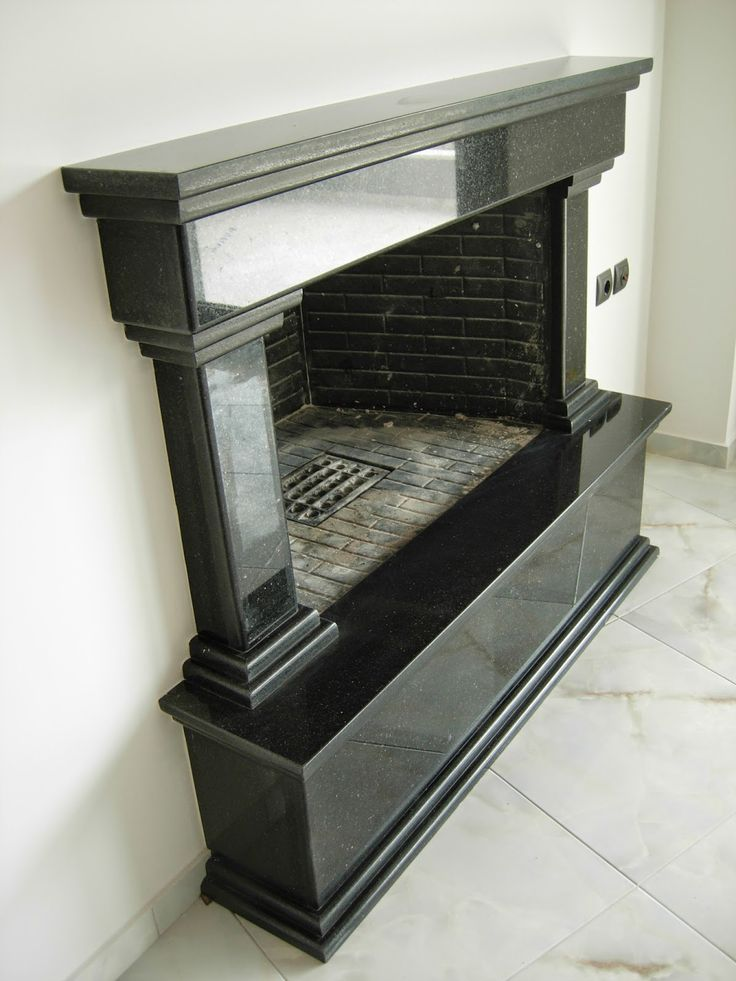 Star Galaxy granite fireplace