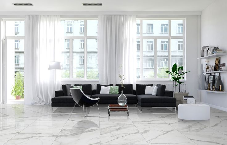 Our Arya series is a beautiful polished white marble replica, stocked in 3 rectified sizes.