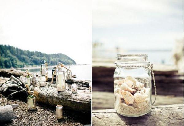 Vintage Beach Wedding Dessert Table