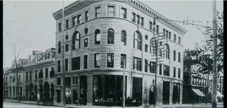 Corner of Square Phillips, Montreal, 1884