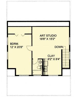 Plan Garage Apartment With Art Studio Floor
