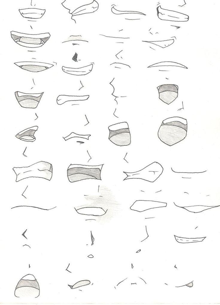 Manga mouths by DensetsuNoLuka