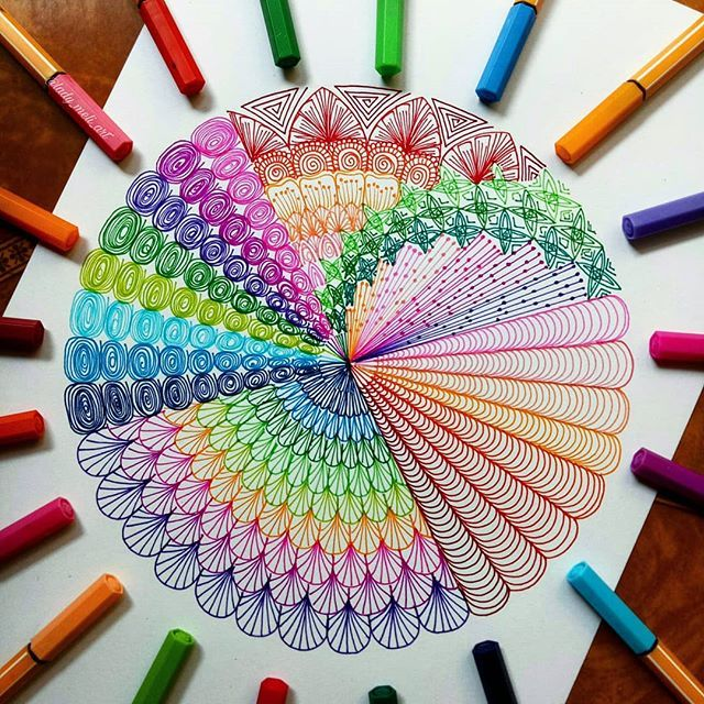 A New Mandala For Today I Have Made A Video Tutorial Of It Check Out On Youtube Link In Bio Doodle Art Designs Mandala Art Lesson Doodle Art Drawing