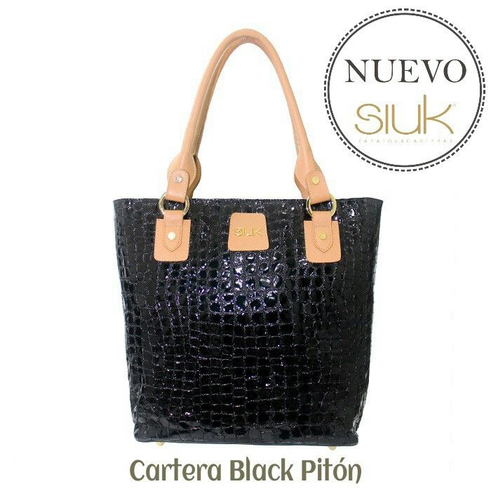 Black is Black!! Cartera Black Pitón
