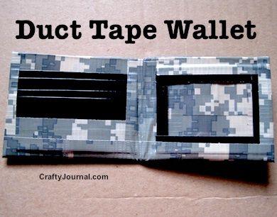 Duct Tape Wallet - Crafty Journal @craftyjournal