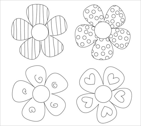 Flores Para Pintar Modelos De Flor Modelos De Flor De