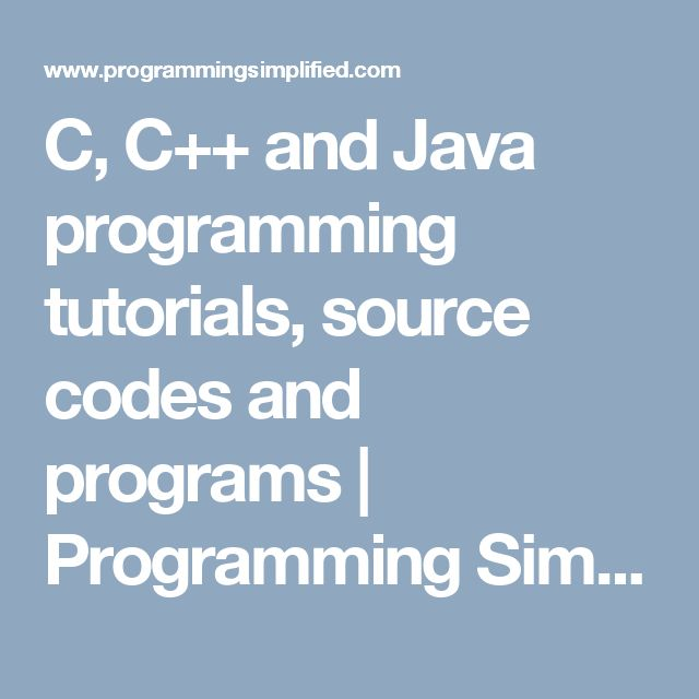 C, C++ and Java programming tutorials, source codes and programs | Programming Simplified