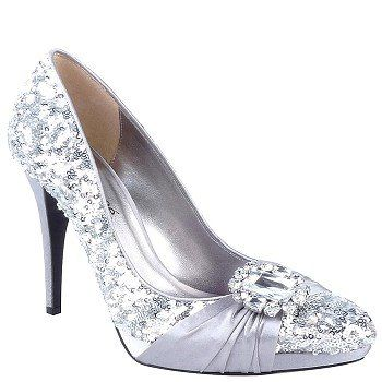 Great J. Renee Fable Silver Wedding Shoes