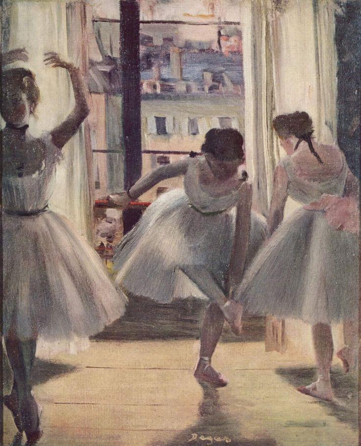 Edgar Degas- Three Dancers in a Practice Room (Drei Tänzerinnen in einem Übungssaal)