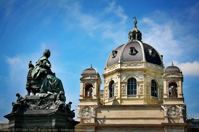 The Museum of Natural History and the Memorial of Empress Maria Theresia - Vienna, Austria