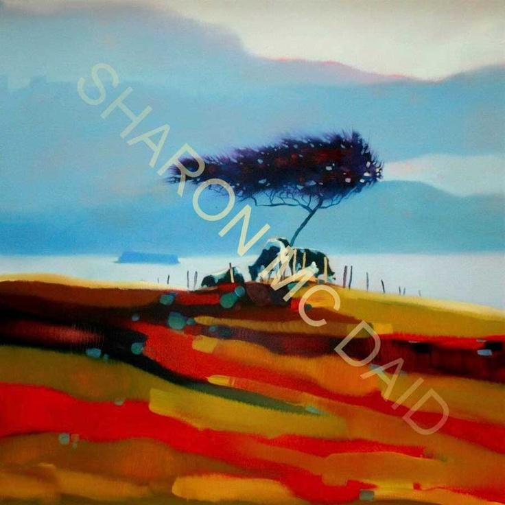 Fairy tree grazers by Sharon McDaid - PRINT