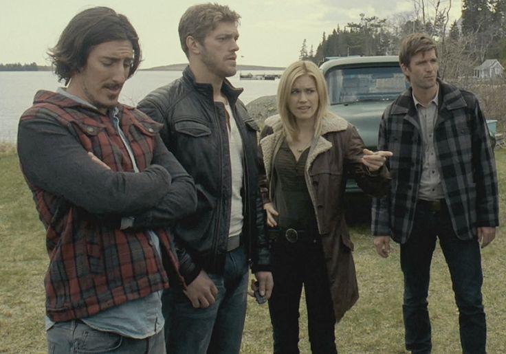 Haven Syfy - Eric Balfour as Duke Crocker, Adam Copeland as Dwight Hendrickson, Emily Rose as Audrey Parker & Lucas Bryant as Nathan Wuornos
