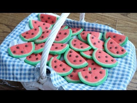 How to Make Watermelon Cookies! - YouTube