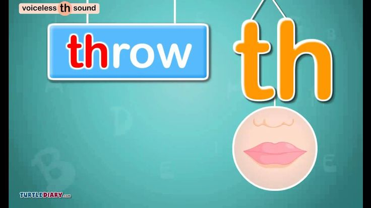 Voiceless Digraph /th/ Sound - Phonics by TurtleDiary