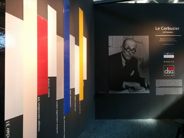 Les Couleurs/Le Corbusier architectural polychromy by DSG/Gigacer