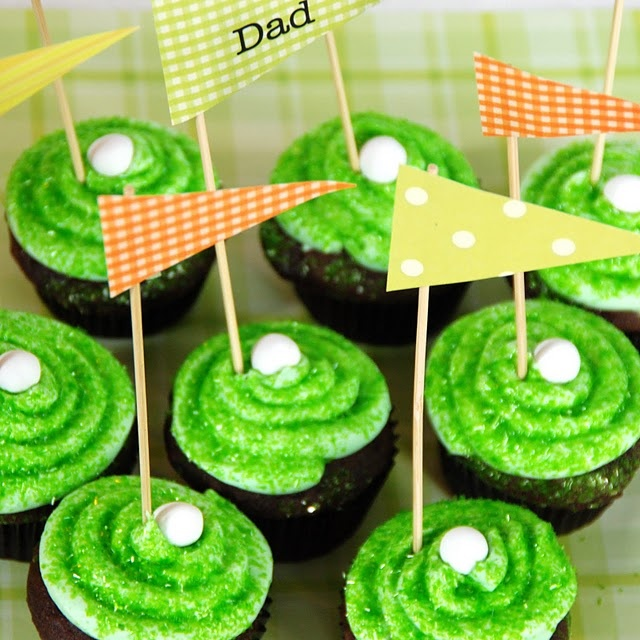 golf cupcakes.. Food and golf, just 2 of my favourite things