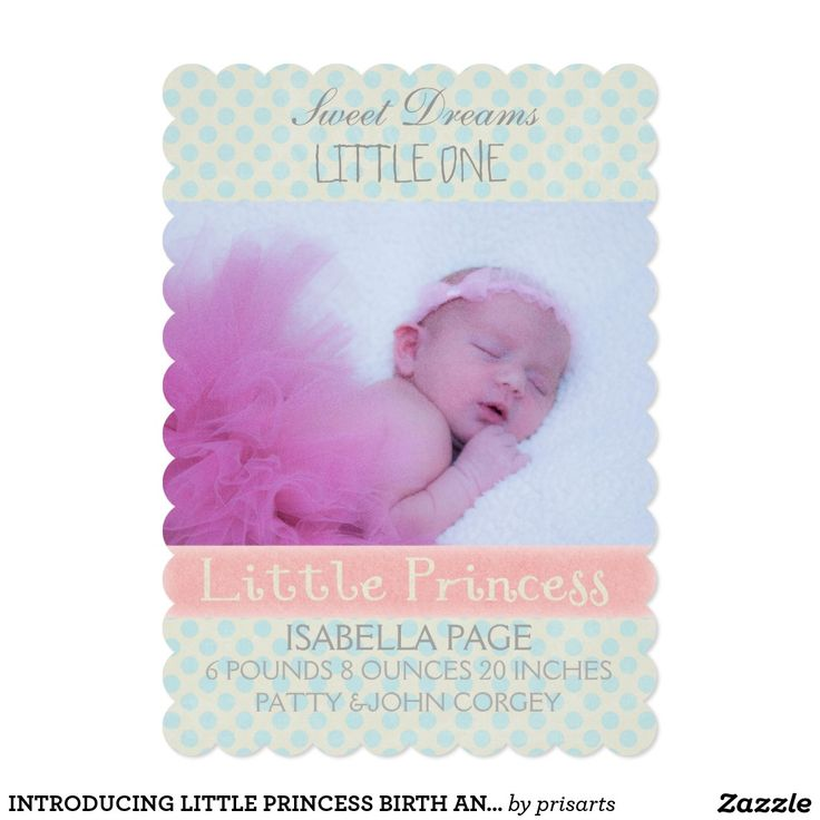 INTRODUCING LITTLE PRINCESS BIRTH ANNOUNCEMENT