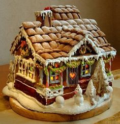 Collection of gingerbread houses for ideas come christmas time!!