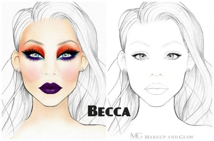Free Printable Face Charts For Makeup - Makeup Vidalondon