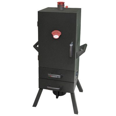 Landmann Smoky Mountain Two Drawer Easy Access Vertical Charcoal Smoker