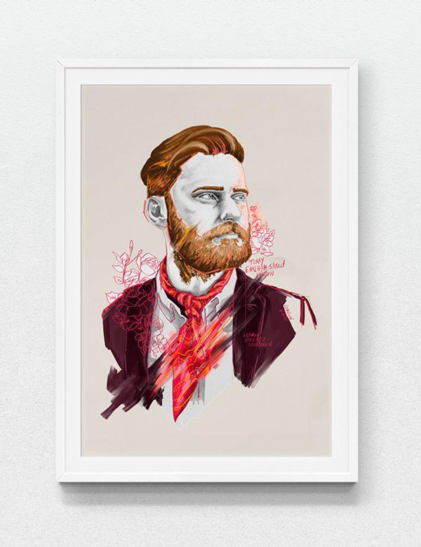 Beards are the new black by German Gonzalez, via Behance