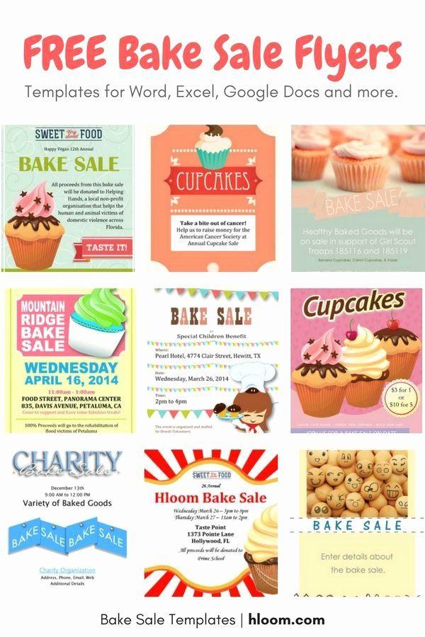 Bake Sale Flyer Templates Free Elegant 22 Best Bake Sale Flyers