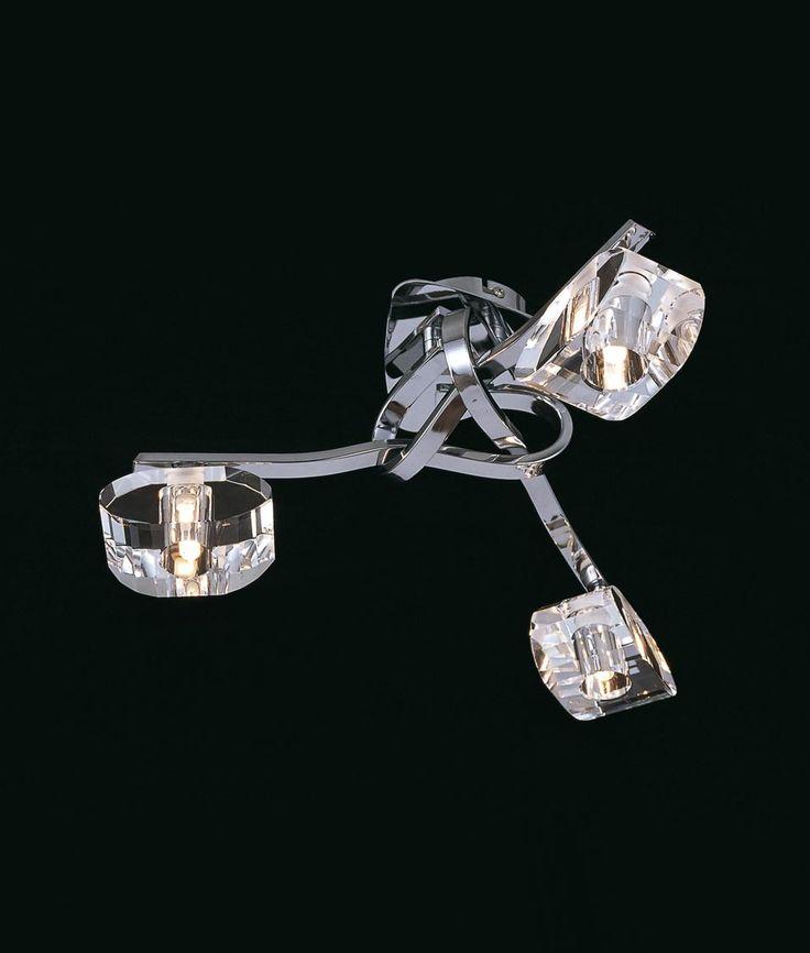 Plafón cromo 3 luces ALFA - La Casa de la Lámpara