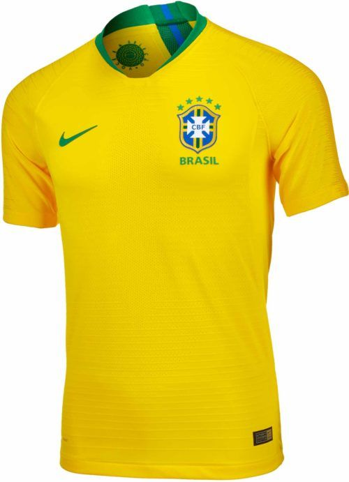 2018 19 Nike Brazil Match Home Jersey. Buy it now from www.soccerpro.com 4a14461079f2c