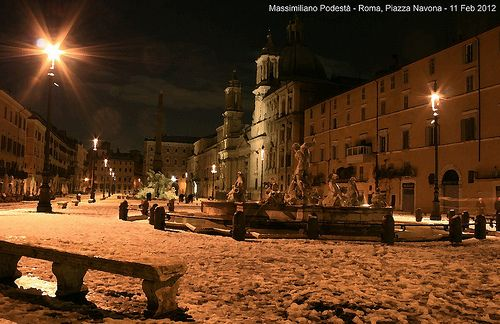 Snow in Navona Square