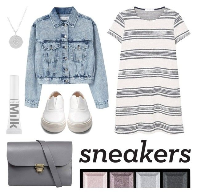 Fresh Kicks by twenty-7 on Polyvore featuring MANGO, Primury, N'Damus, Lord & Taylor, Clé de Peau Beauté and whitesneakers