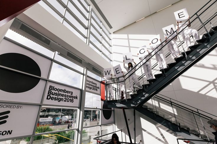 Branding, way-finding design, set design, lighting design and general creative direction for the third annual Bloomberg Businessweek design conference.      Furniture and decor by Emily Anton Video and vaporwave Jpop megamix by Steph...