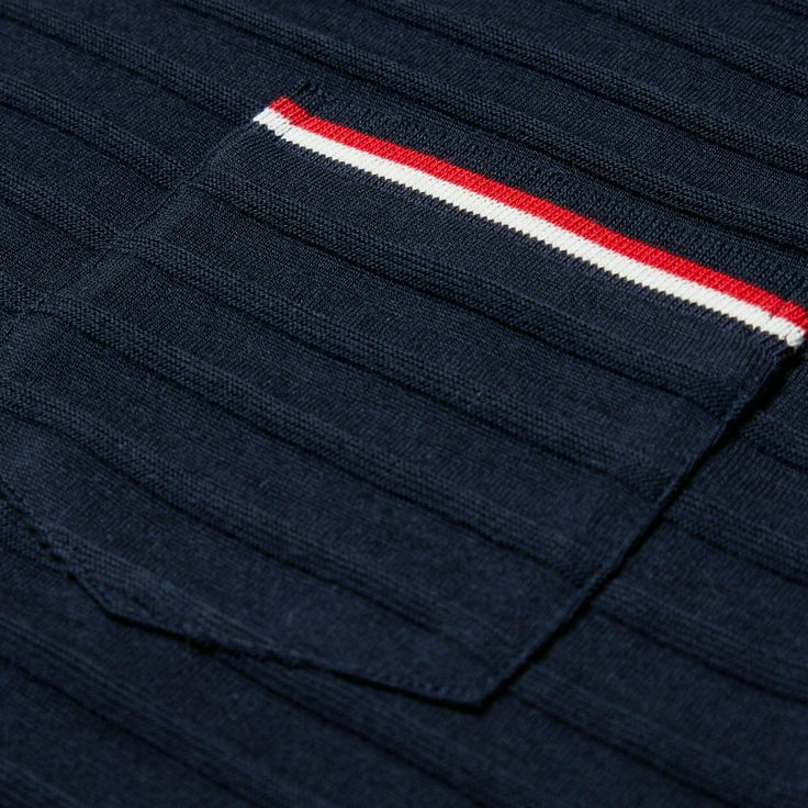 Thom Browne Long Sleeve Knitted Tee (Navy)