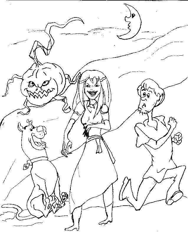Scooby doo halloween coloring pages digg stumbleupon del for Scooby doo coloring pages halloween