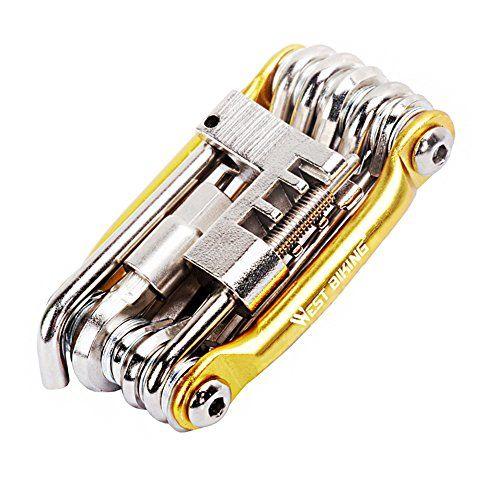 Set de herramientas de reparación y mantenimiento para bicicleta, compacto, multifunción con llave Allen, Infantil hombre mujer, dorado #herramientas #reparación #mantenimiento #para #bicicleta, #compacto, #multifunción #llave #Allen, #Infantil #hombre #mujer, #dorado