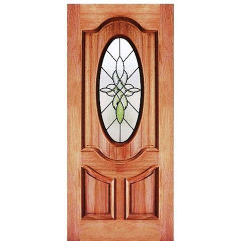 Oval Mahogany Triple Glazed Exterior Door