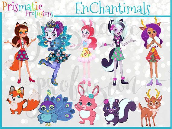 Enchantimals Image Clipart Party Design Supplies Etsymktgtool Enchantimals Clipart Clipart Instantdownload Scrap Party Design Etsy Diy Super Party