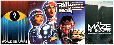Leads to: World On A Wire, Tron, The Running Man, The Maze