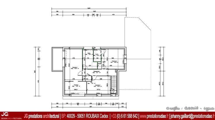 Jg dessin architectural plan de l 39 etage pour permis de construire gon - Forum permis de construire ...