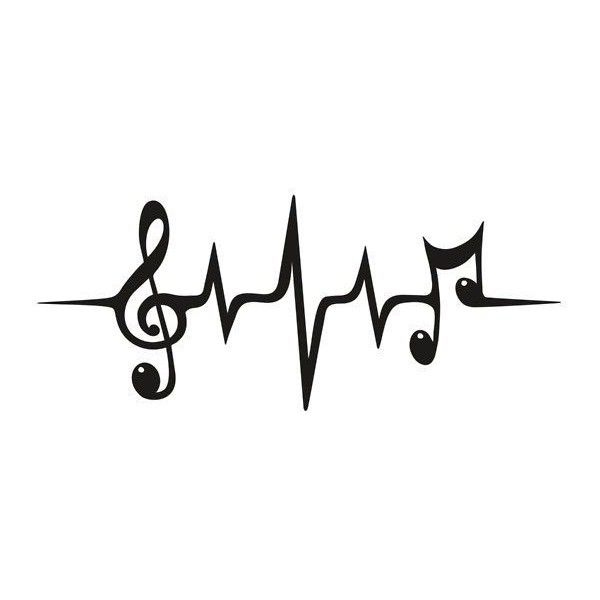 Music Pulse, Notes, Clef, Frequency, Wave, Sound, Dance ❤ Liked
