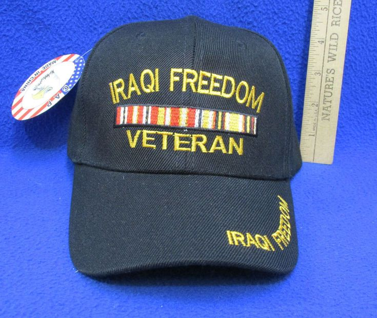Iraqi Freedom Veterans Hat Cap Black w/ Embroidery One Size
