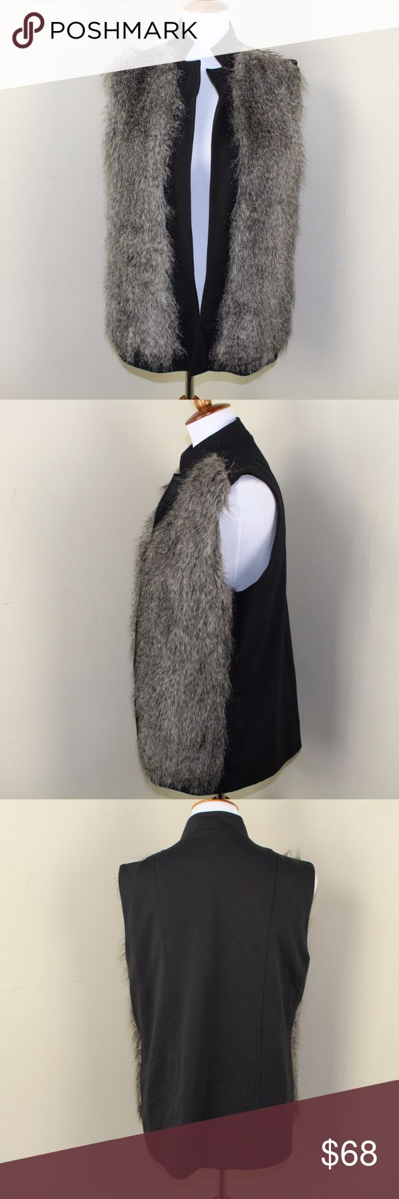 French Connection Black / Faux Fur Vest Excellent, gently loved condition. No holes, stains, flaws or signs of wear.  My bundle discount is 15% off 2+ Feel free to ask any questions, additional measurements or pictures.  Please submit any offers through the offer button. French Connection Jackets & Coats Vests