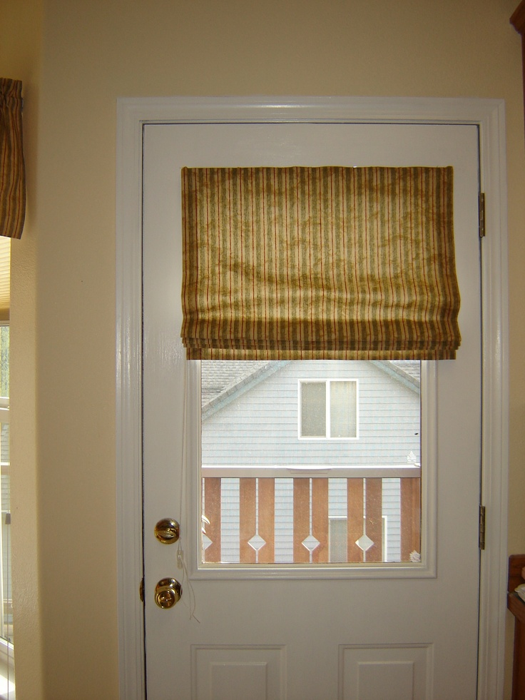 Magnetic Roman Shade For Metal Door Window Coverings