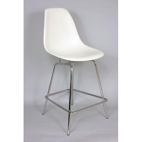 Stilnovo White 33 Inch Bar Chair Bar Height (28 To 36 Inch) Bar Stools Kitchen & Dining F