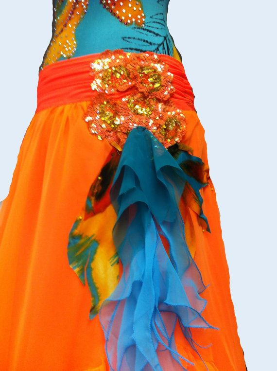 Ballroom Dance Dress Abstract by DesignByNatasha on Etsy