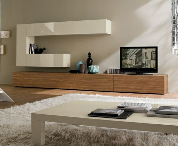 meuble TV bois blanc design