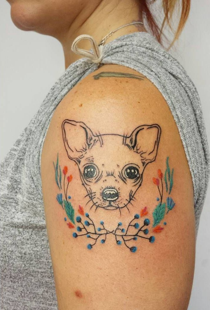 Chihuahua Tattoo By Aline Wata