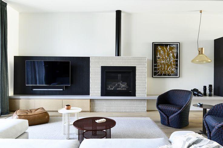 Australian Interior Design Awards  fireplace and tv solution